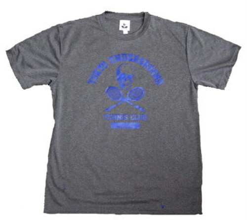 TUTC DryTシャツ ミックスグレー x ロイヤルブルー TS-001