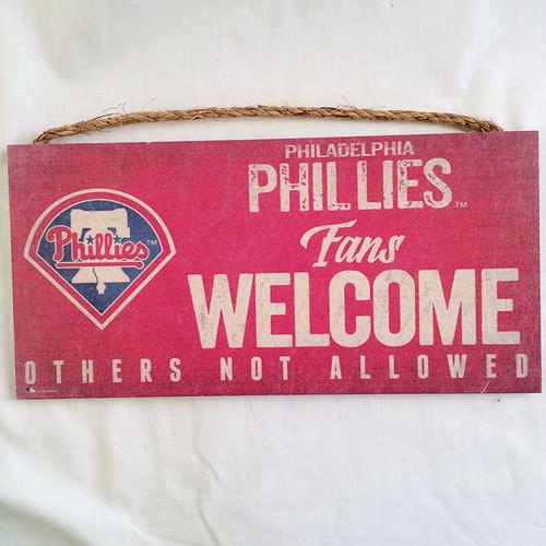 MLB フィラデルフィア フィリーズ Philadelphia Phillies ウッド ウェルカム サインボード 2090