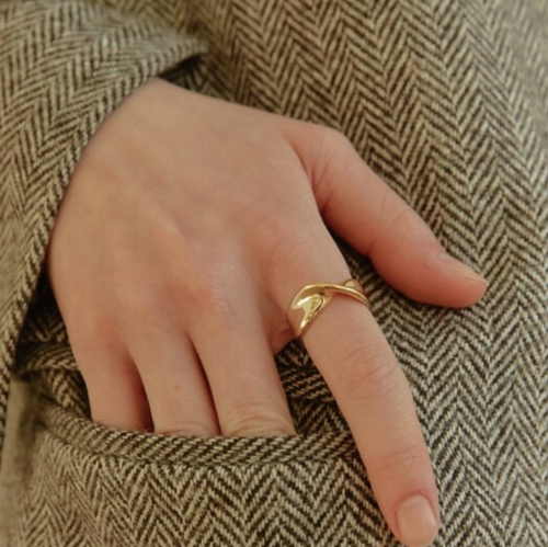 【gold / silver】twisted ring 〜ツイストリング〜