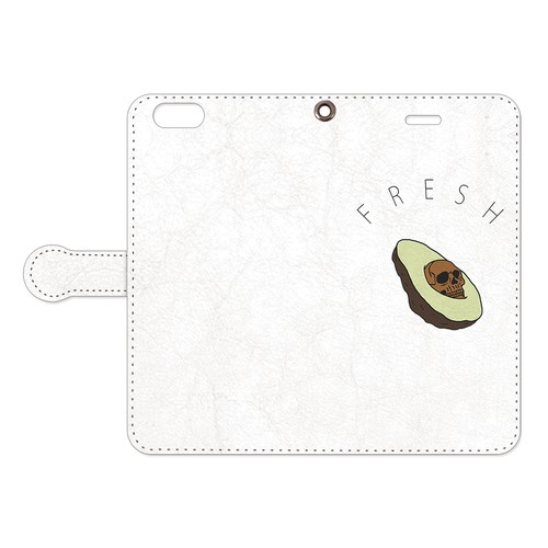 [手帳型iPhoneケース] Creepy avocado