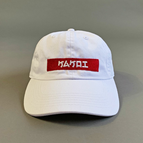 KAKOI Box Dad Cap (ケムケロエ) WHITE