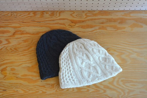 mature .ha   slant cutting aran2 knit cap lamb