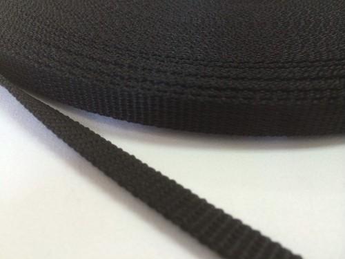 PPテープ 10mm幅 1.2mm厚 黒 1m