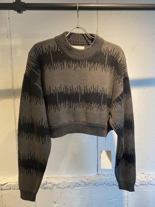 FILLTHEBILL  cotton jacquard short knit