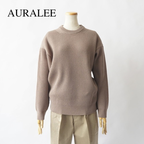 AURALEE/オーラリー ・SUPER FINE WOOL RIB KNIT BIG P/O