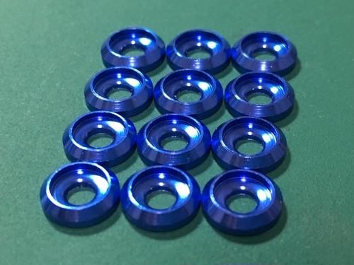 12月末入荷予定◆M3キャップボルト用 カラーアルミワッシャー 12個セット カラー / 深青色