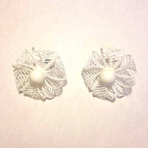 vintage white white earring