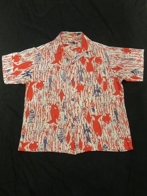 50's S/S Cotton Aloha Shirt