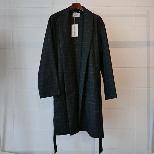 WACKOMARIA BLURRED CHECK GOWN COAT