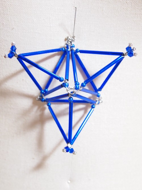 Three-dimensional Triangle(big) PIERCE[Blue]