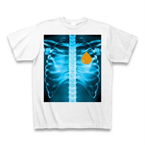ASH DROP ボーンドロッププリントTシャツ ブルー