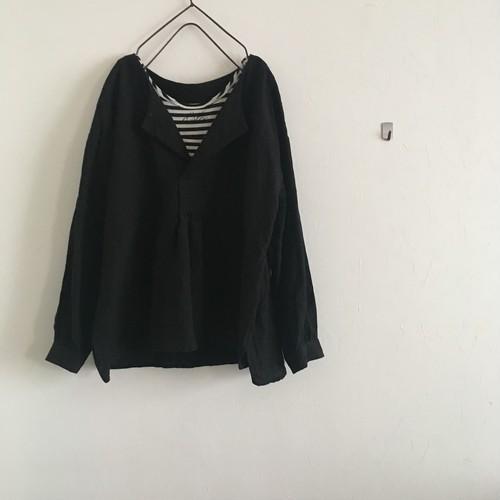 kaikin pullover    linen 100%   black
