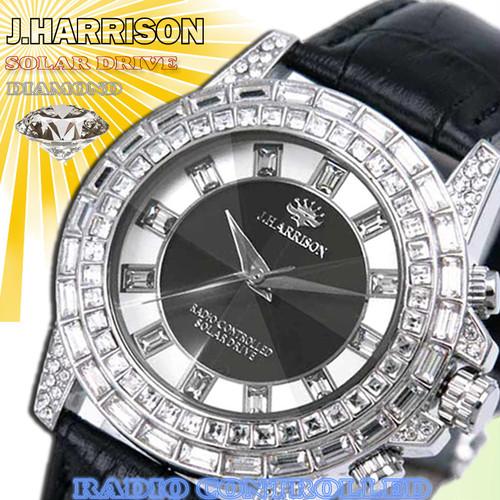 【J.HARRISON】 JH-097SB ソーラー電波時計