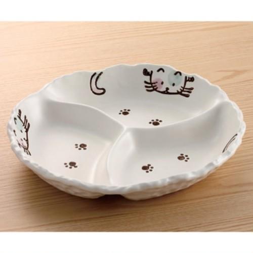 ねこちゃんおかず皿/かわいい猫ちゃんと一緒に楽しい食事