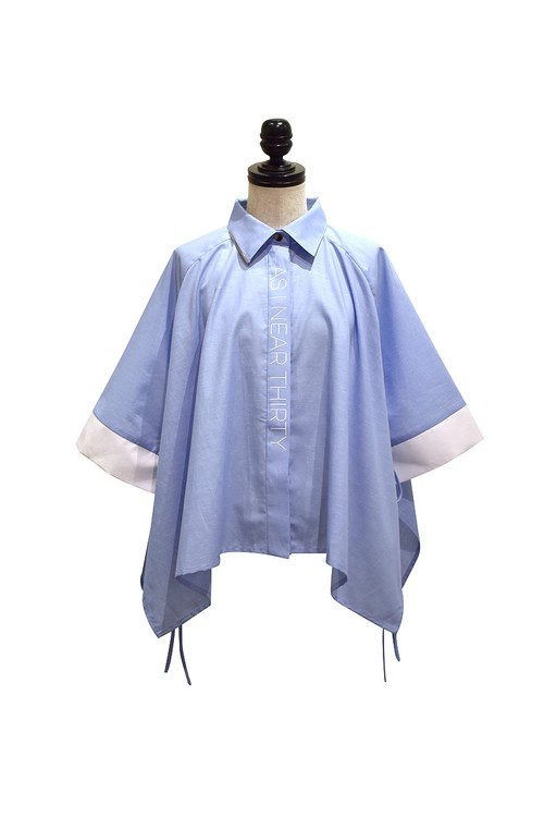 J WOO / blouse 10 / BLUE