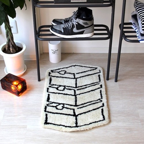 HAND MADE SHOES BOX RUG MAT