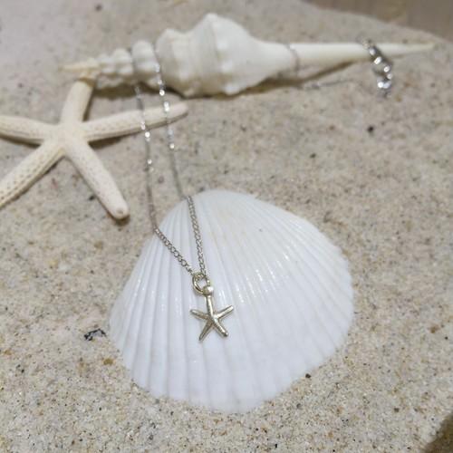 silver925 starfishネックレス