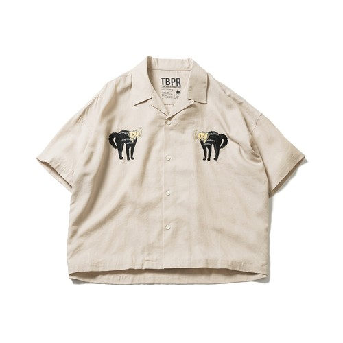 TIGHTBOOTH  CAT WOMAN SHIRT Beige