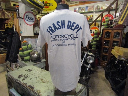 TRASH DEPT オリジナルロゴ Tシャツ / ライトグレー