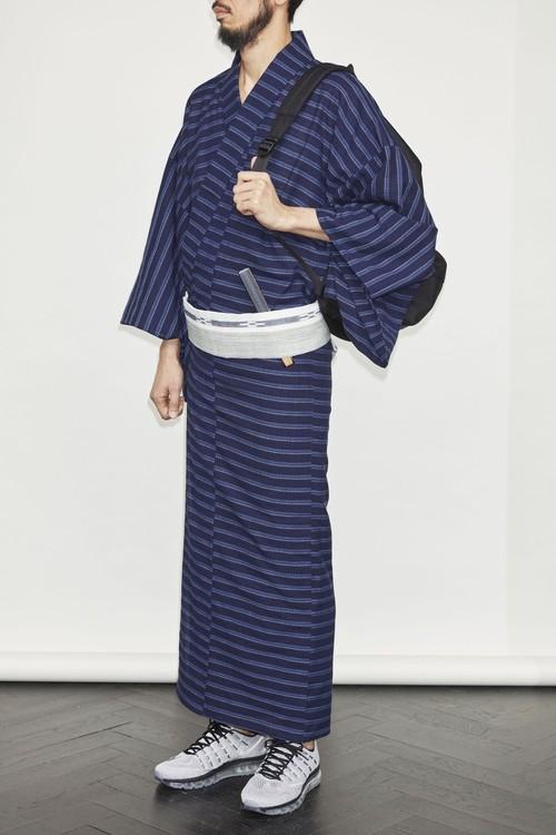 きもの / 片貝染紅梅 / ボーダー(With tailoring)