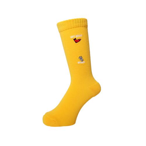 WHIMSY - HAND SIGN SOCKS (Yellow)