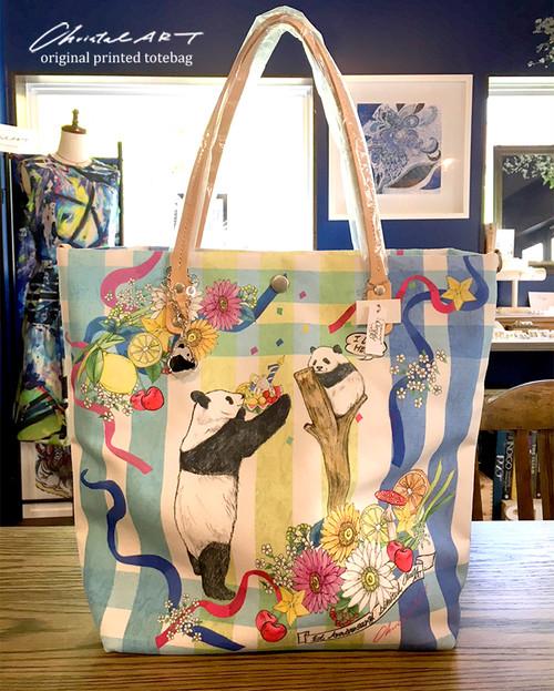 デザイントートバッグ「シャンシャン1歳バースデー記念柄」