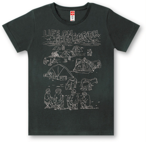 #443 Tシャツ LIFE ON/BLK