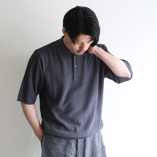 STILL BY HAND【 mens 】knit polo
