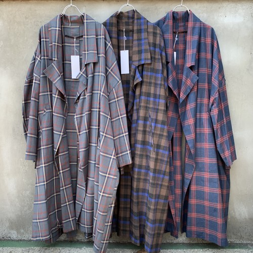 "My Beautiful Landlet  ""Tartan check Long Coat"""