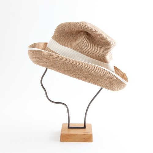 mature ha./BOXED HAT 101SWW mixbrown×white