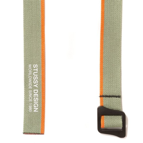 STUSSY Design Climbing Belt Olive × Orange