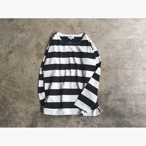 ARMEN(アーメン) L/SL DROP SHOULDER WIDE BORDER BASQUE SHIRT