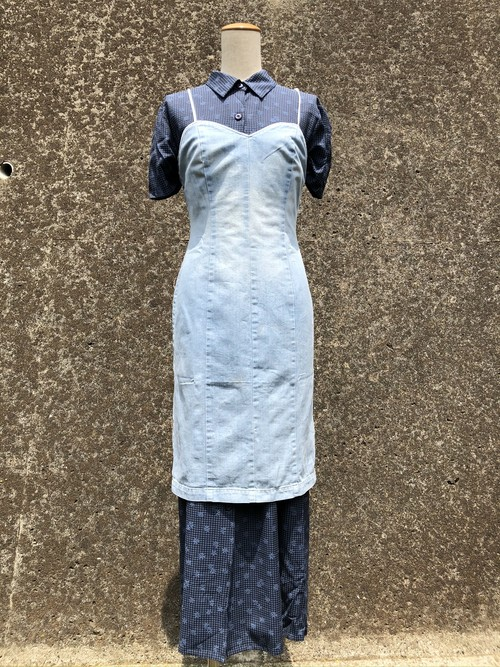 denim camisole dress