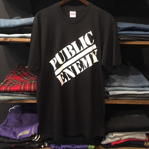 【SUPREME × UNDERCOVER × Public Enemy】 -シュプリーム-SS18 SUPREME UNDERCOVER Public Enemy TEE BLACK