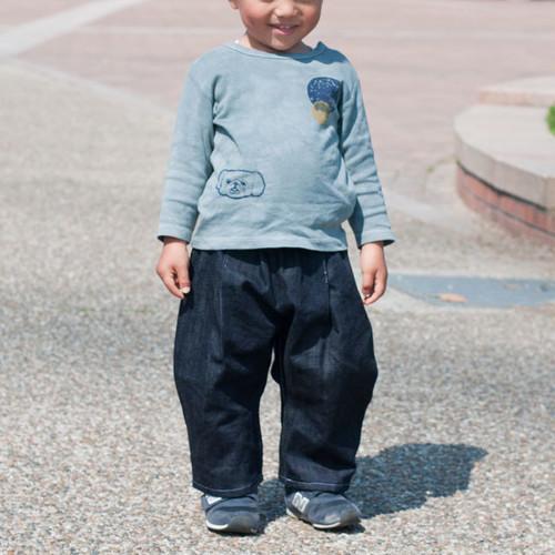 KIDS  ワイドテーパード デニムパンツ(80〜110サイズ)