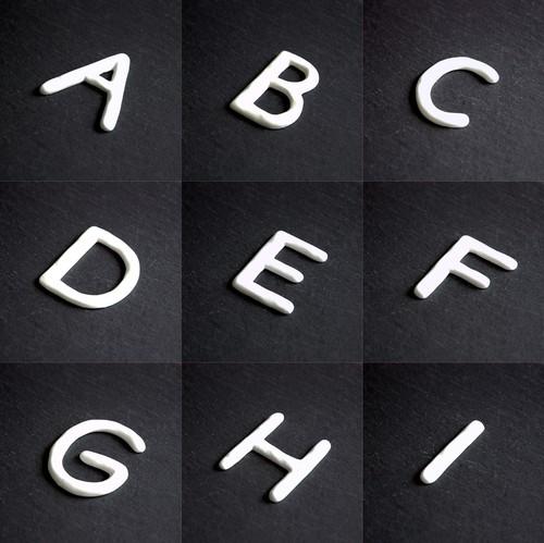 白磁 ナンバー&イニシャル(A-I)