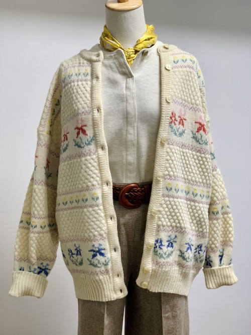 Vintage Knit Cardigan Made In U.K.