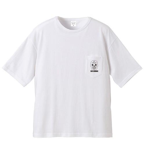 SIX LOUNGE [メキシカンスカル]Tシャツ(ホワイト)