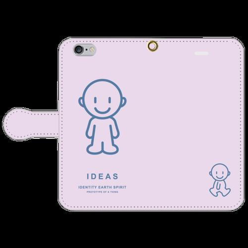 IDEAS/iPhone6/6s手帳型ケース 803-ピンク