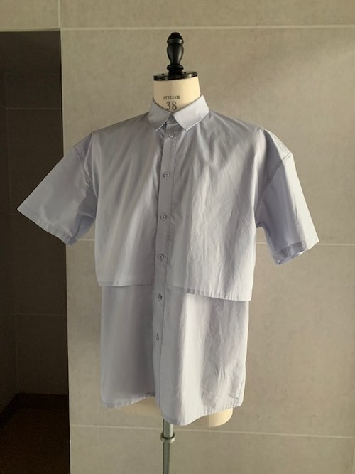 POLYPLOID HALF SLEEVE SHIRT C ICE BLUE