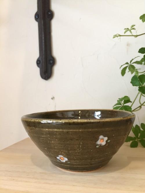 大﨑陽子 小花柄 ミニボウル 緑