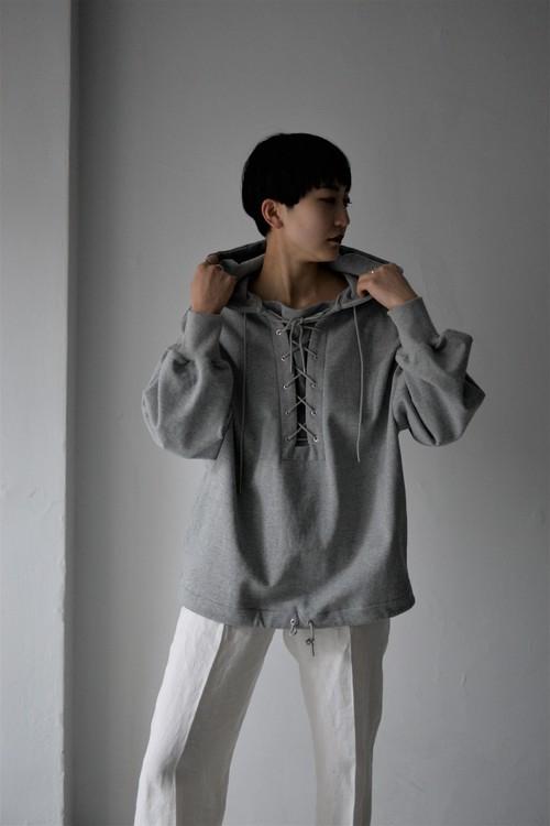 G.V.G.V. / HOODED DECK PULLOVER (grey)