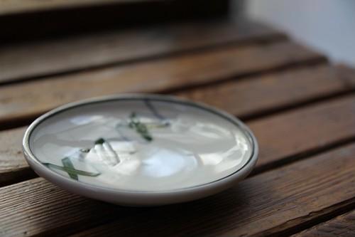 レトログリーンのⅩ模様…小皿