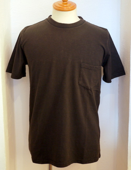 US Slub Jersey C/N Pocket S/S TEE BLACK