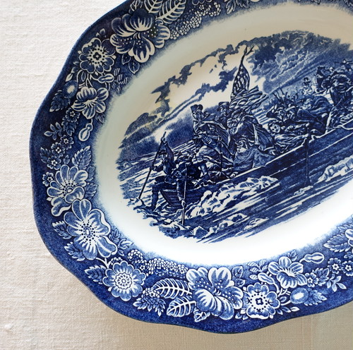 歴史をモチーフにしたオーバル皿