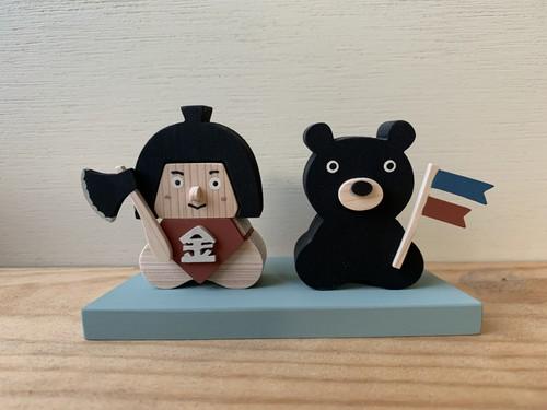 五月人形 金太郎とクマ