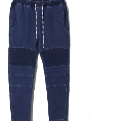 [ feel so easy good things for relaxing ] indigo stretch sweat knee-pad pants(IS-004)