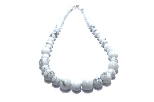ターコイズのネックレス(ホワイト) ☆数量限定品