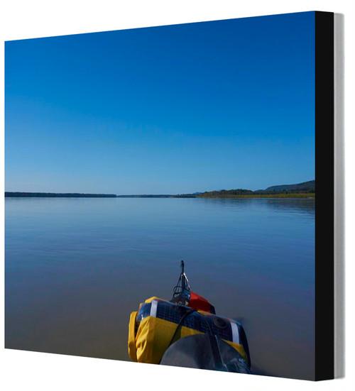 四つ切りワイド写真パネル アラスカ・ユーコン川 山田龍太撮影 木製パネル張り 20160817112106