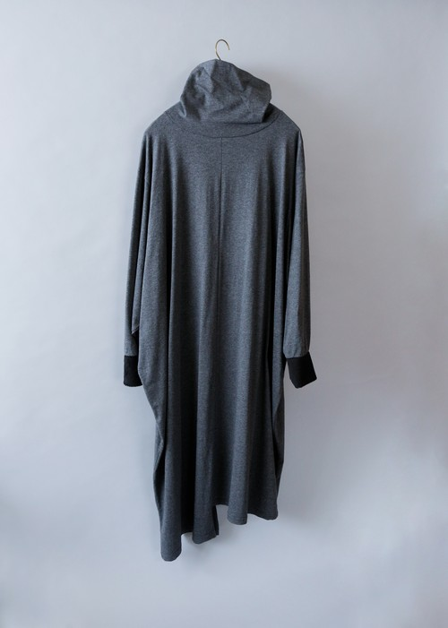 《michirico 2019AW》High neck long one piece / dark gray / S(womens)